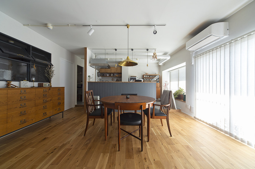 ヴィンテージ家具、映えるリノベ